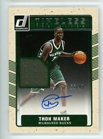 2016-17 Thon Maker 55/99 Auto Jersey Panini Donruss Timeless Treasures Rookie #7