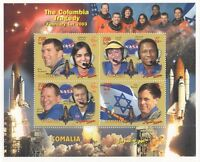 THE COLUMBIA TRAGEDY NASA SPACE SHUTTLE SOMALIA 2003 MNH STAMP SHEETLET