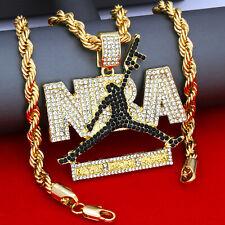 "Mens Hip-Hop Jordan Pose NBA w/ Rope Chain Necklase 24"" 6mm Set"