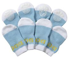Anti-Slip Protective Pet Dog or Cat Socks Shoes Boots W/ Rubberized Micro Grips