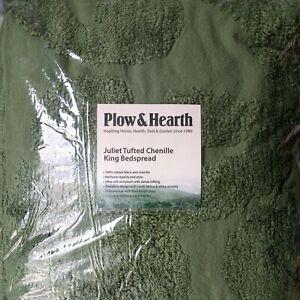 Plow & Hearth Juliet Tufted Cotton Chenille King BedSpread