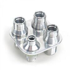 4 Port AC Heater Bulkhead Kit 3 10AN and 1 6AN fitting aeroquip aeroflow hose