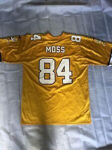Vtg Randy Moss Jersey Minnesota Vikings Alternate Gold Large EUC
