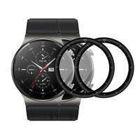 2X 3D Hartglas für Huawei Watch GT 2 Pro Panzerfolie Display Schutz Full Curved