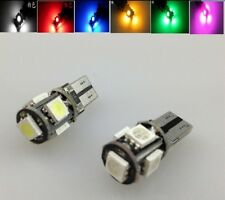 T10 501 194 168 W5W 5SMD 5050 LED ERROR FREE CANBUS Car Side Light Bulbs 5 Color