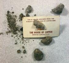 Vintage The House of Copper Ore Specimen