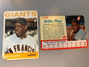 Willie Mays 1964 Topps #150 - LOW GRADE & 1962 Post #142 Nice