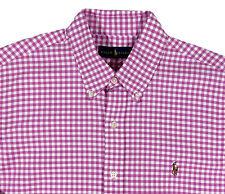 Men's RALPH LAUREN Pink White Oxford Gingham Plaid Shirt 3XLT 3XT 3LT NWT NEW