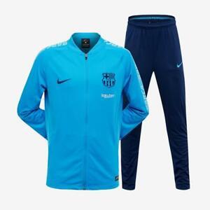 Juniors NIKE FC BARCELONA DRY SQUAD Equator Blue Tracksuit 894401 482