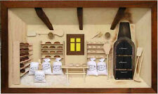 3D Holzbild Wandbild 55 x 33 cm Bäckerei, Handarbeit