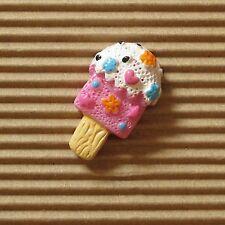US SELLER - 10 x Resin Ice Cream Bar Flatback Beads w/Star/Heart/Flower SB472P