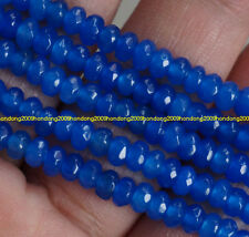 Natural 2x4mm Faceted Blue Sapphire  Abacus Gems Loose Beads 15''