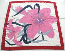 MADAME GRES SCARF LARGE FLORAL SILK MADE IN ITALY Vintage 1980's