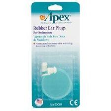 Apex Rubber Ear Plugs - 1 pr