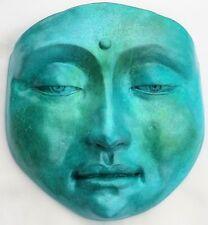 Original Jade Buddha Collectible Sculpture, Calming Wall Art, Feng Shui Decor