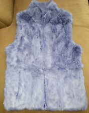 Express Purple Rabbit Fur Vest Size MED