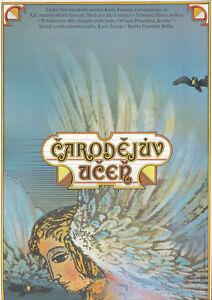 Original Vintage Poster Czech Film The Sorcerer's Apprentice Fantasy Magic 1970s