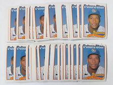 Gary Sheffield 1989 Topps Baseball Rookie Card #343 - 50 Card Lot