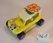 MAJORETTE 1/55 Nº 248 DUNE BUGGY jaune/blanc Flowerpower #461