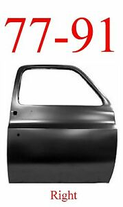 No Shipping 77 91 Chevy Right Truck Door Shell, GMC Blazer C/K GM1301102