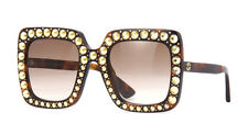 New! Gucci Square Womens Sunglasses Havana Tortoise Brown Gradient Lens GG0148S