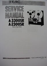 TEAC A-2300SR & A-3300SR TAPE DECK SERVICE MANUAL 59 Pages