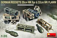 Miniart 1:35 German 28cm WK Spr & 32cm WK FLAMM Rockets Model Kit