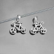 Männer Jungen Fahrrad Mountain Bike Anhänger Silber 925 mit Kette Länge wählbar