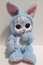 Animal Babies Bunny Plush Blue Beanie Thumb sucking with Name Tag RARE EUC Jakks