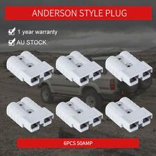 Premium 6x 50AMP Anderson Style Plug Solar Power Exterior Connector DC