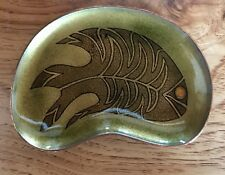 Miguel Pineda Los Castillo Midcentury Mexican Enamel on Copper Dish. Signed!