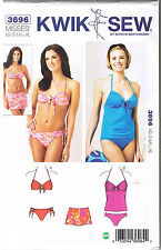 2 Pc Swimsuit Swimdress Tankini Bikini Skirt Kwik Sew Sewing Pattern XS S M L XL