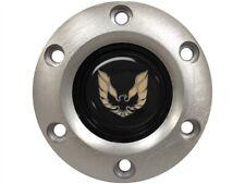 Brushed Steering Wheel 6 Hole Horn Button w/ Gold Pontiac Firebird Emblem