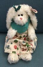 TY Beanie Baby Attic Treasure Bloom Garden Furry Bunny Rabbit With Dress Mint .