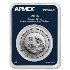 3/4 ONCIA CANADA LUPO 2016 999 Moneta d'argento a mintdirect Slap TESTATO