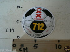 STICKER,DECAL AMSTERDAM 712 SOCCER VOETBAL 1987 SONY AMSTEL BIER MASCOTTE