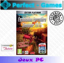 Exploitation Forestière Simulator 2015 édition platinum jeux PC
