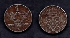 SUEDE 1 ORE 1950  FER   RARE