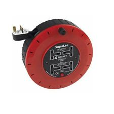 SupaLec 15 Meter Extension Lead 13 Amp Extension Reel 15m 4 Socket High Quality