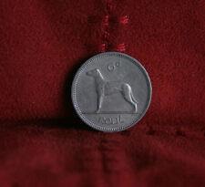 6 Pence Ireland 1963 Nickel World Coin Irish Harp Wolfhound Dog KM13a Eire six d