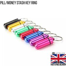 Storage Stash Keyring Waterproof Small Travel Pill Money Case Holder Container