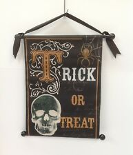 Halloween Scroll Door or Wall Decoration Trick Or Treat - New
