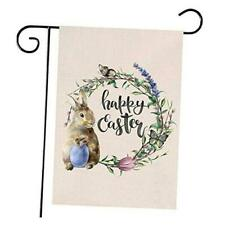 New listing Happy Easter Garden Flags, Easter Wreath Garden Yard Flag 12 X 18 Double Sided,