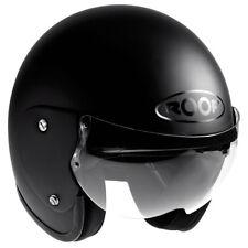 ROOF Roadster RO5 Open Face Motorcycle Helmet XS Matt Black Moped Scooter Bike