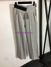 High-waist straight-leg casual pants trousers black gray SML