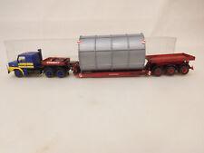 MES-61989Kibri 1:87 Scania Tieflader gesupert gebaut sehr guter Zustand,