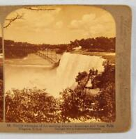 Stereoview Underwood Marble Whiteness American And Luna Falls Niagara USA (O)