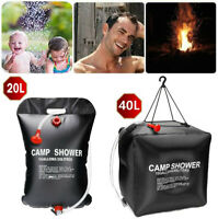 20L/40L Portable Camping Shower Compact Solar Sun Heating Bath Bag Outdoor Camp