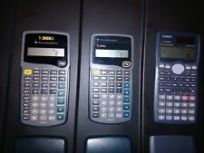 Lot of 3 Scientific Calculators Texas Instruments Ti-30Xa Casio fx-991Ms S-Vpam