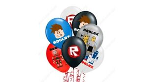 """Roblox Balloons 10 pcs 12"""" Latex Birthday Party Fun in mix colours with design"""